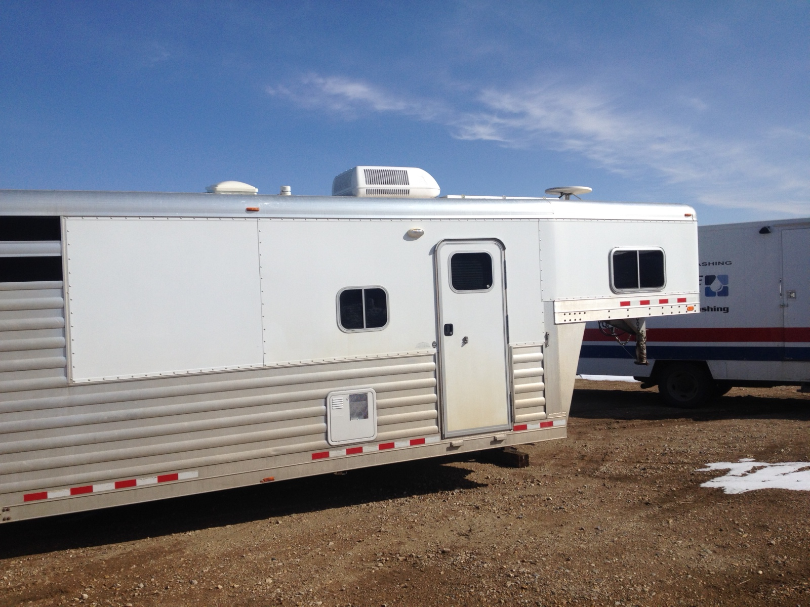 Horse trailer before pressure force pressure washes